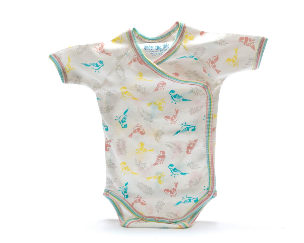Clothes Organic Baby Body Birds