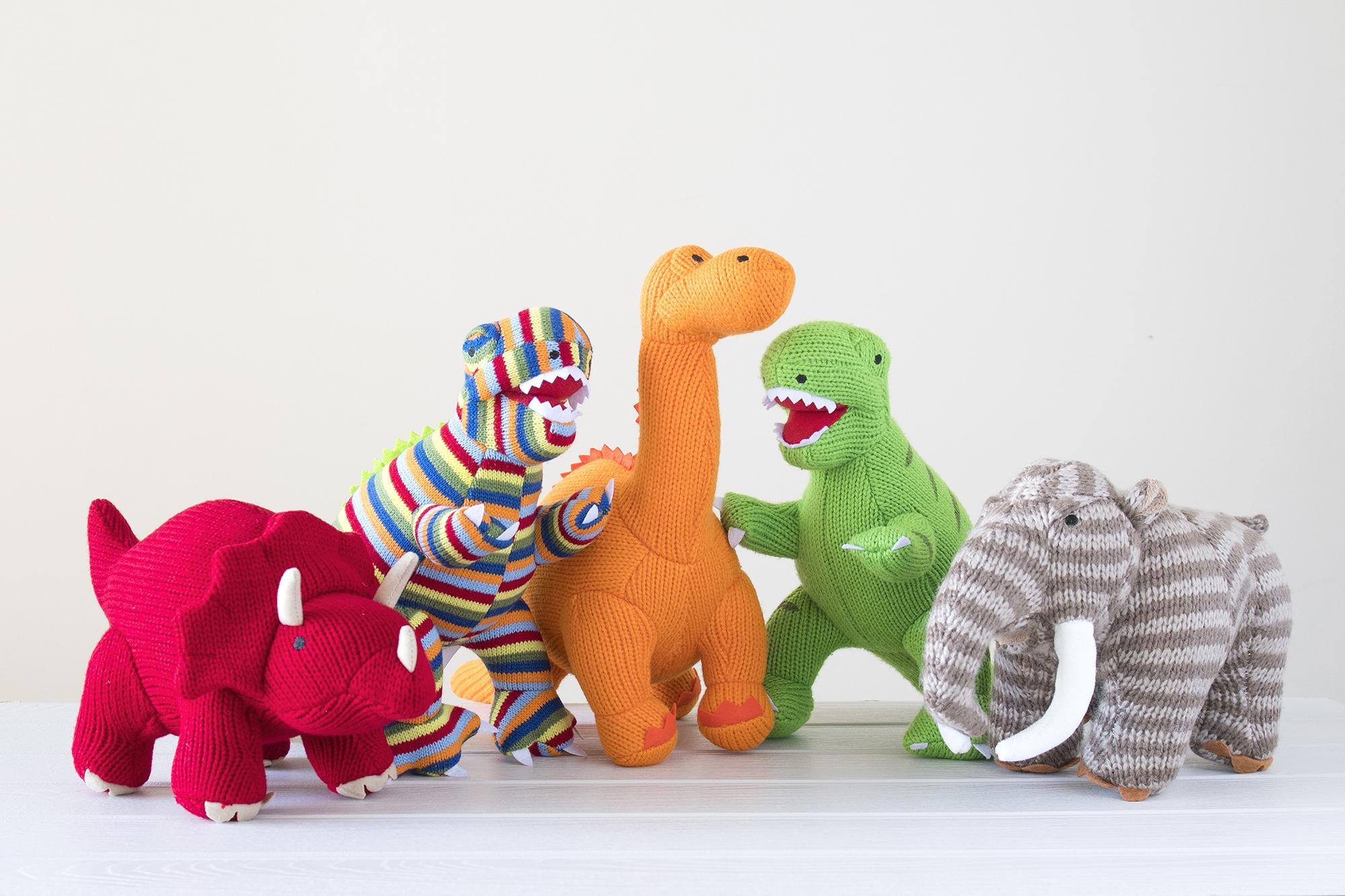 Dinosaur toys and rattles