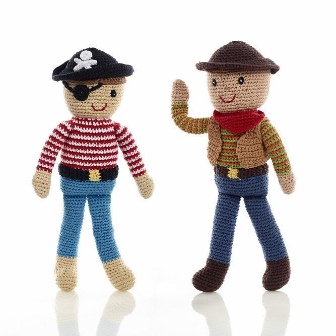 Pirate and cowboy dolls