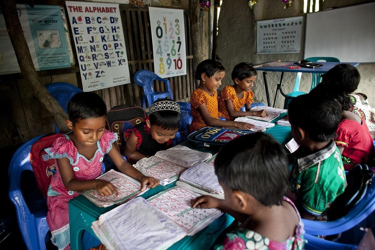 Pupils learning