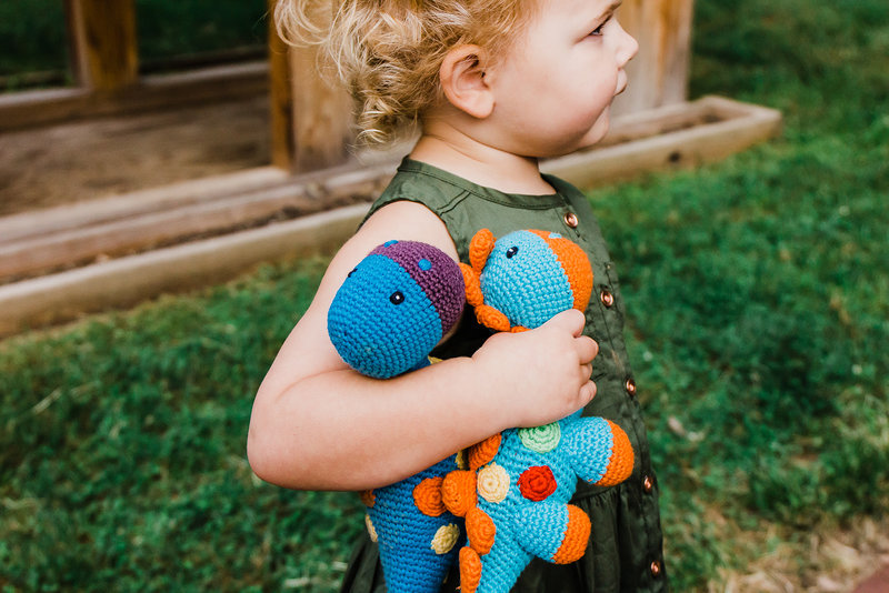 Social Distancing & Coronavirus - Outdoor Play Ideas for your Kids and their Knitted Dinosaurs!