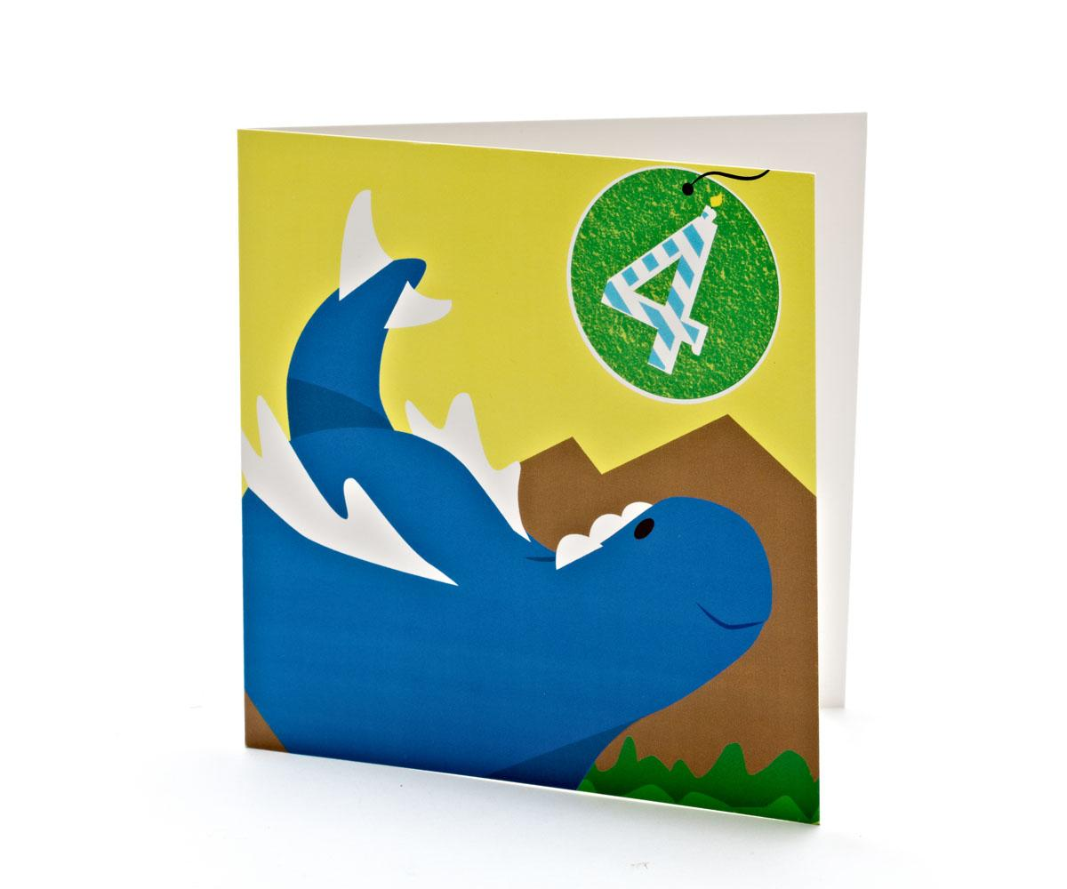 Dinosaur Cards Birthday Wishes Stegosaurus Cartoon Card 4