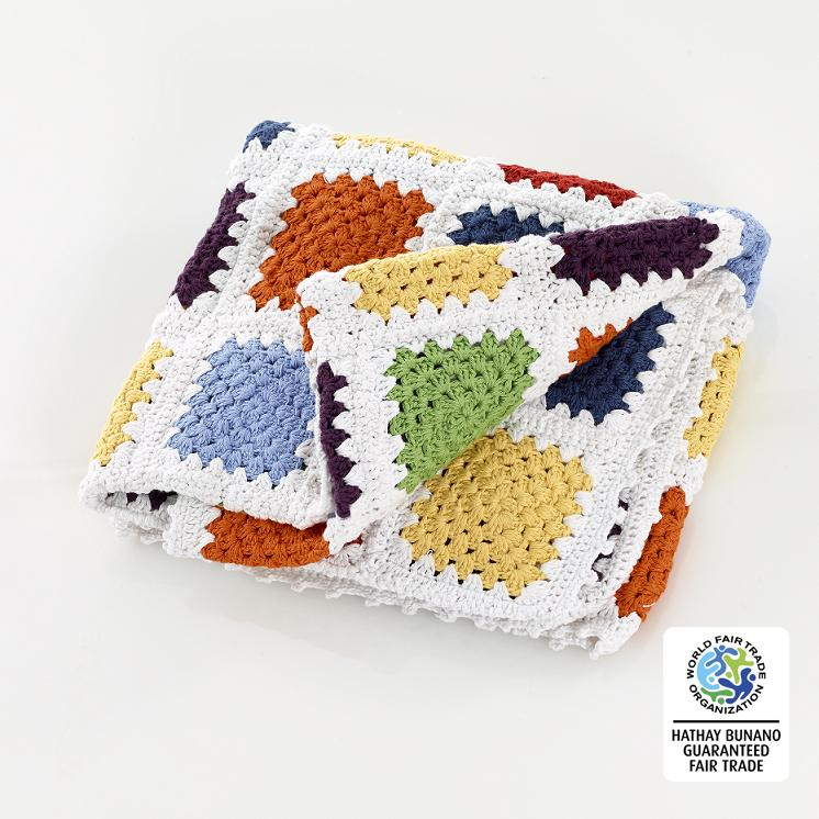 fair trade, handmade rainbow baby blankets