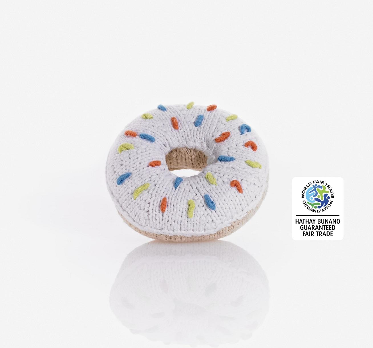 Crochet Cotton White Donut Toy