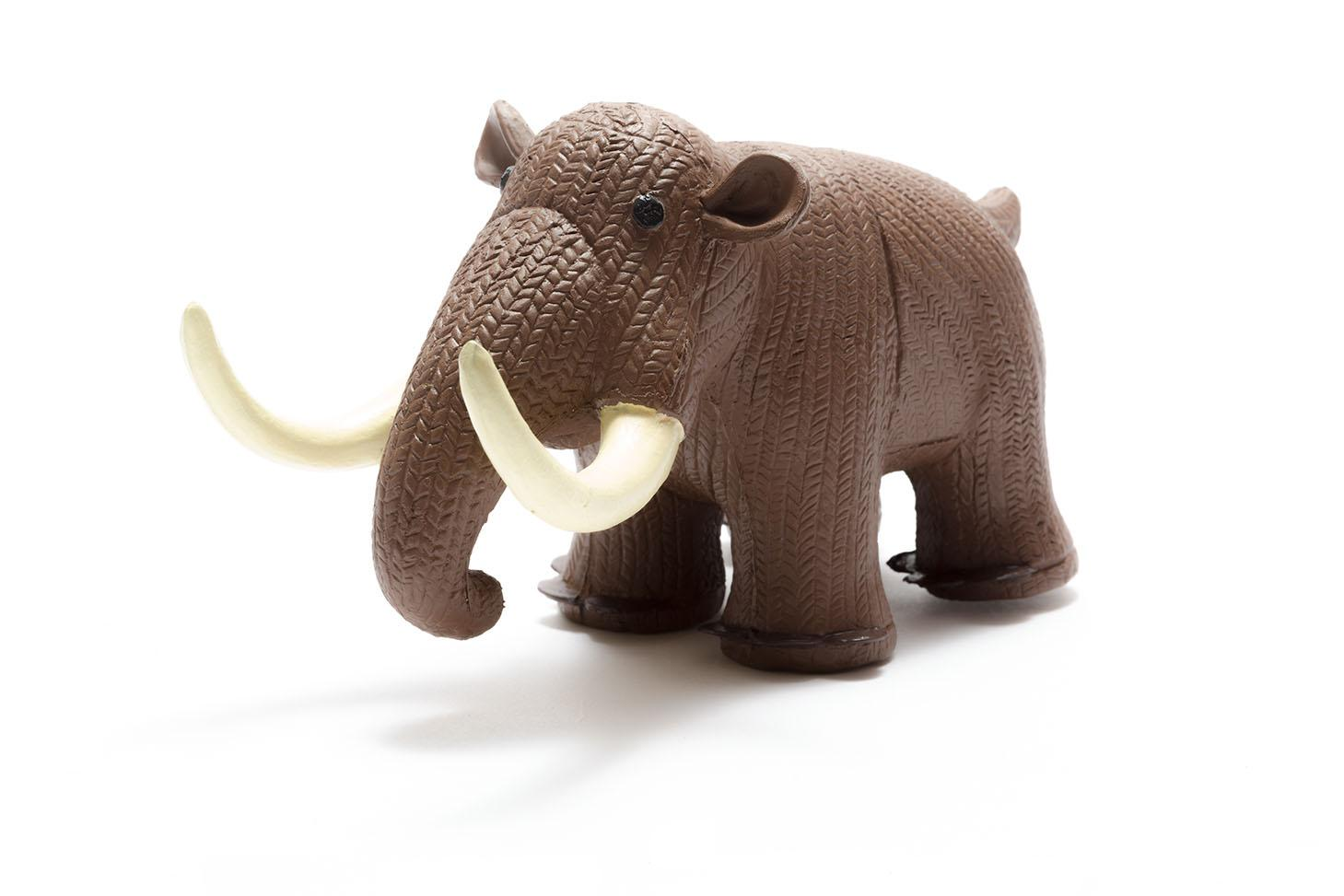 natural rubber mammoth baby dinosaur toy