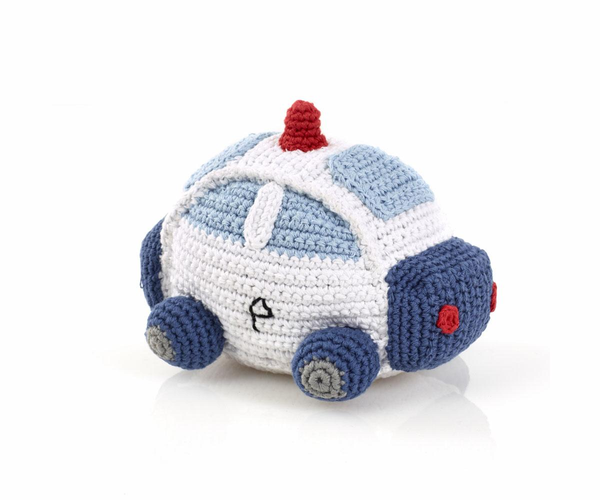 Toy Cars : Police Car Toy, Crochet Baby Rattle