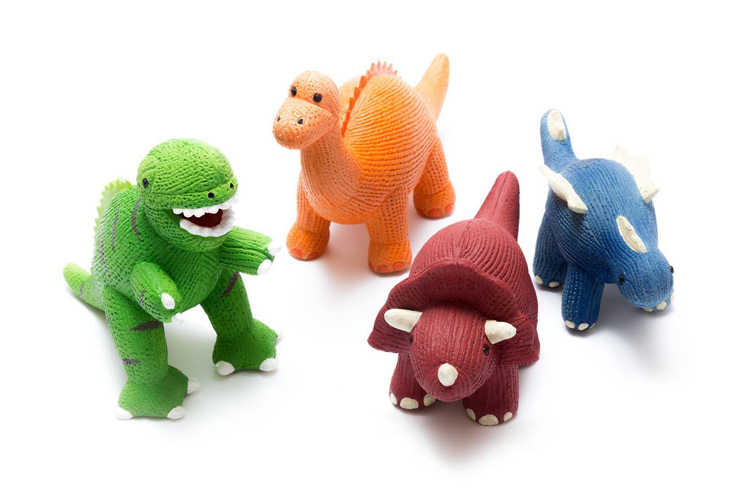 Dinosaurs : My First Stegosaurus Natural Rubber Dinosaur Toy Blue