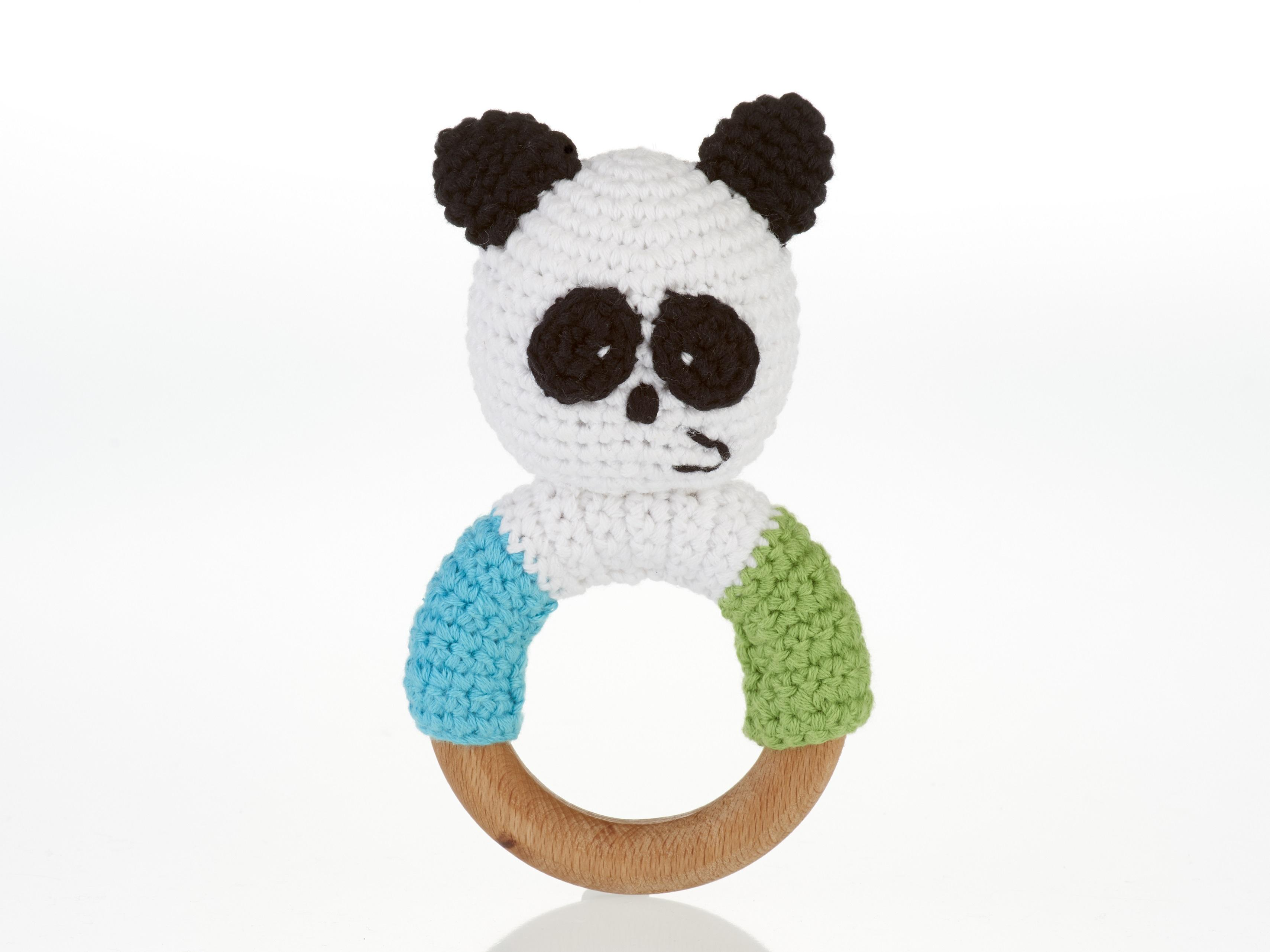 Baby Toys Fair Trade Crochet Cotton And Wooden Ring