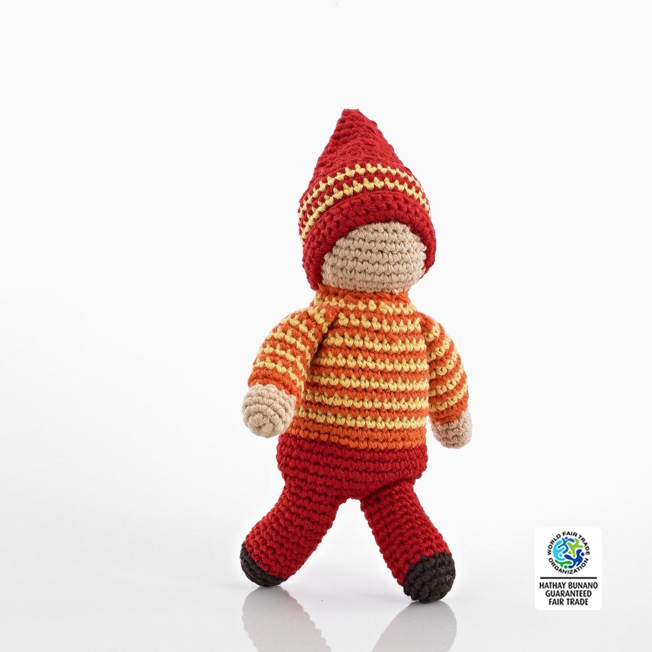 Orange Pixie Soft Doll in Crochet Cotton
