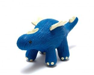 natural rubber blue stegosaurus dinosaur toy for babies