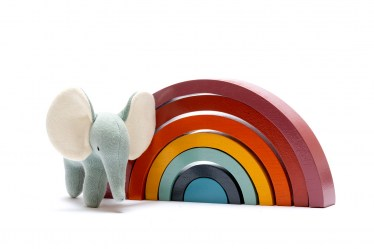 Contemporary rainbow with elephant