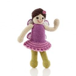 fair trade fairy baby toy with rattle. Suitable from birth