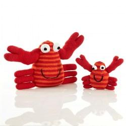Large red crab and rattle