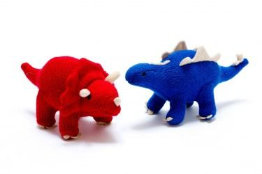 Mini Steg and Triceratops rattles