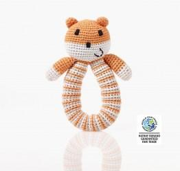 Organic bear Rattle Orange wfto