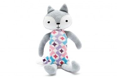 Organic fox toy purple