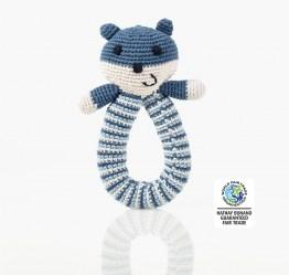 Organics bear Rattle Blue wfto
