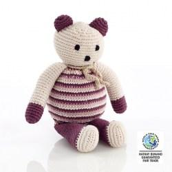 Pebble Teddy bear cool purple
