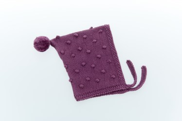 baby bonnet soft purple