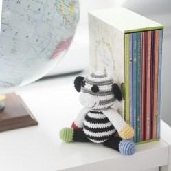 black and white monkey with books2