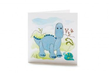 blue diplodocus card