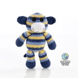 blue stripe monkey rattle