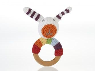 multi bunny teether