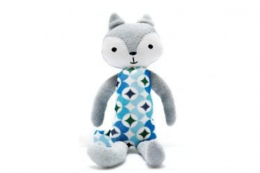 organic fox toy blue