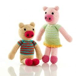 pig rattles boy and girl