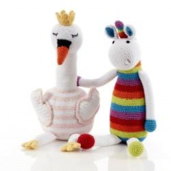 Large Crochet Cotton Unicorn Soft Toy