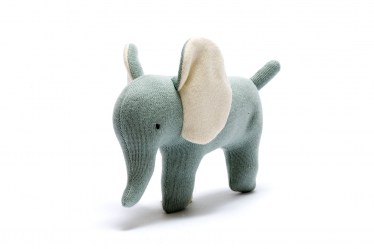 small teal elephant toy