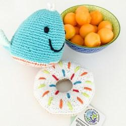 Crochet Cotton Blue Whale Soft Toy