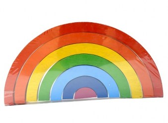 wooden rainbow open play