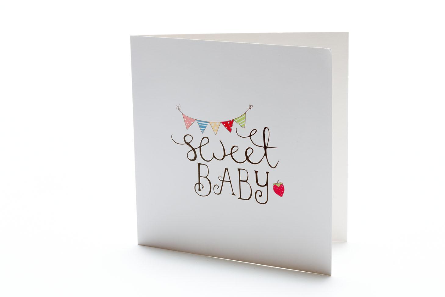 Greeting Cards Sweet Baby Bunting Greetings Card